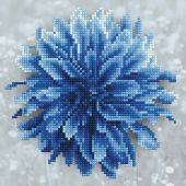 Kit de broderie Diamant - Diamond Art - Dahlia bleu
