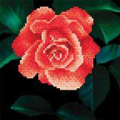 Kit de broderie Diamant - Diamond Art - Rose rouge