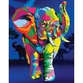 Kit de broderie Diamant - Diamond Art - Elephant