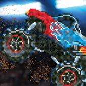 Kit de broderie Diamant - Diamond Art - Monster Truck