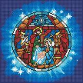 Kit de broderie Diamant - Diamond Art - Nativité