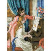 Kit de broderie Diamant - Diamond Dotz - Jeunes filles au piano d'après Renoir