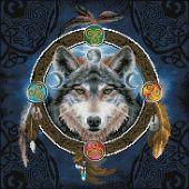 Kit de broderie Diamant - Diamond Dotz - Loup celtique