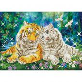 Kit de broderie Diamant - Diamond Dotz - Couple de tigres