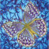 Kit de broderie Diamant - Diamond Dotz - Papillon argenté