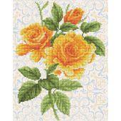 Kit de broderie Diamant - Diamond Dotz - Bouquet de roses jaunes