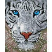 Kit de broderie Diamant - Diamond Dotz - Tigre blanc