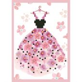 Carte broderie Diamant - Diamond Dotz - Jolie robe