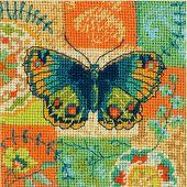 Kit de canevas unifil - Dimensions - Dessin papillon