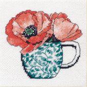 Kit de canevas unifil - Dimensions - Tasse à thé florale