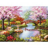 Kit point de croix - Dimensions - Jardin japonais