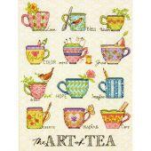 Kit point de croix - Dimensions - L'art du thé