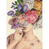 Kit point de croix - Dimensions - Dame de jardin