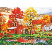 Kit de peinture par numéro - Dimensions - Amis d'automne