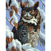 Kit de peinture par numéro - Dimensions - Observation d'hiver