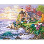 Kit de peinture par numéro - Dimensions - Le gardien de la mer