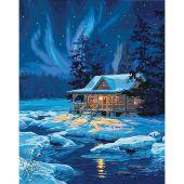 Kit de peinture par numéro - Dimensions - Cabane au clair de lune
