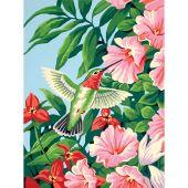 Kit de peinture par numéro - Dimensions - Colibri et fuchsias