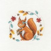 Kit point de croix avec tambour - DMC - Un écureuil si mignon
