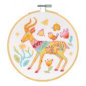 Kit point de croix avec tambour - DMC - L'antilope