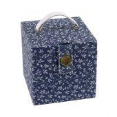Boîte à couture - DMC - Fleurs bleues - cube