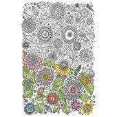 Toile pré-dessinée - Zenbroidery - Floral