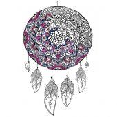 Toile pré-dessinée - Zenbroidery - Attrape-rêves