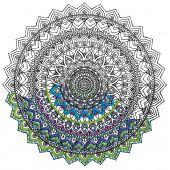 Toile pré-dessinée - Zenbroidery - Mandala