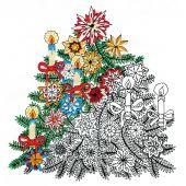 Toile pré-dessinée - Zenbroidery - Sapin de Noël