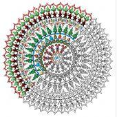 Toile pré-dessinée - Zenbroidery - Mandala de Noël