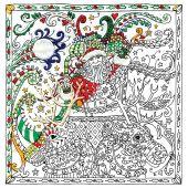 Toile pré-dessinée - Zenbroidery - Père Noël