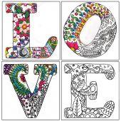 Toile pré-dessinée - Zenbroidery - Love