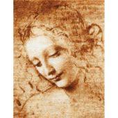 Kit point de croix - Toison d'or - Visage d'une jeune femme d'après Léonard De Vinci