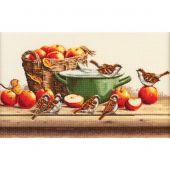 Kit point de croix - Toison d'or - Moineaux et pommes