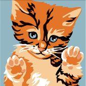 Kit de canevas pour enfant - Luc Créations - Le chat