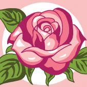 Kit de canevas pour enfant - Luc Créations - Rose