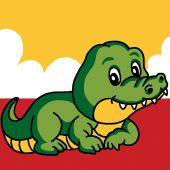 Kit de canevas pour enfant - Luc Créations - Crocodile