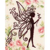 Kit point de croix - Lanarte - Silhouette de fée fleurie 2