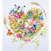 Kit de broderie Diamant - Lanarte - Un coeur de fleurs