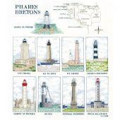 Kit point de croix - Le Bonheur des Dames - Phares bretons