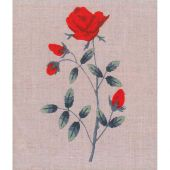 Kit au point de broderie  - Le Bonheur des Dames - Rose rouge