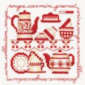 Kit point de croix - Le Bonheur des Dames - Collection rouge