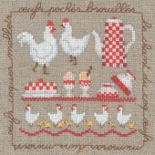 Kit point de croix - Le Bonheur des Dames - Les oeufs