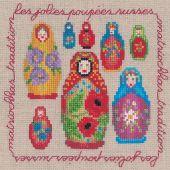 Kit point de croix - Le Bonheur des Dames - Matriochkas