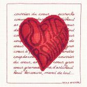 Kit point de croix - Le Bonheur des Dames - Coeur Porte-bonheur