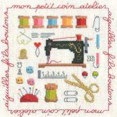 Kit point de croix - Le Bonheur des Dames - Petit atelier
