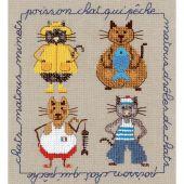 Kit point de croix - Le Bonheur des Dames - Chats marins
