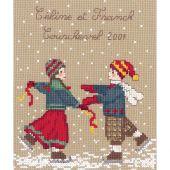 Kit point de croix - Le Bonheur des Dames - Les patineurs