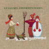 Kit point de croix - Le Bonheur des Dames - Bonhomme de neige