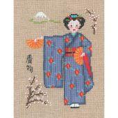 Kit point de croix - Le Bonheur des Dames - Kimono bleu